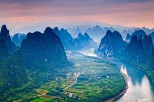 1-Живописные пейзажи реки Лицзян в Китае